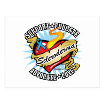 Scleroderma Tattoo Heart Postcard