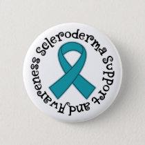 Scleroderma Teal Awareness Ribbon Button