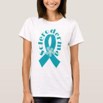 Scleroderma Teal Ribbon Womens T-shirt