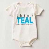 Scleroderma THINK Teal Baby Bodysuit