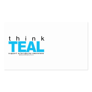 Scleroderma THINK Teal Business Card