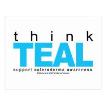 Scleroderma THINK Teal Postcard