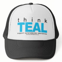 Scleroderma THINK Teal Trucker Hat