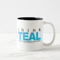 Scleroderma THINK Teal Two-Tone Coffee Mug