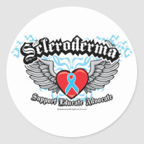 Scleroderma Wings Classic Round Sticker