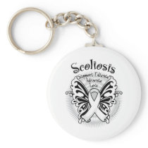 Sclerosis Butterfly 3 Keychain