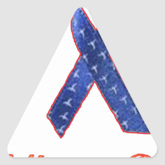 SCLEROSIS IN PLAQUES.png Triangle Sticker