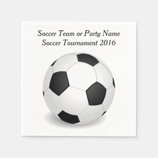 Scoccer Sports Ball Team Party Custom Name Color Paper Napkin