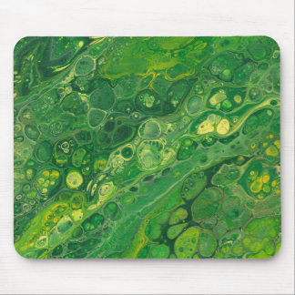 scoducks | Abstract Green & Yellow Mouse Pad