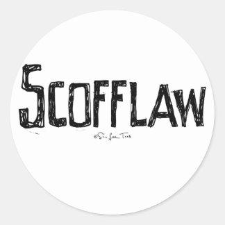 Scofflaw Classic Round Sticker