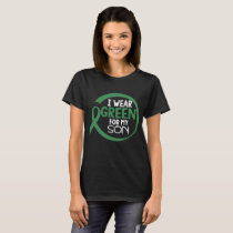 Scoliosis Awareness Month Son T-shirt Green Ribbon