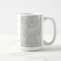 Scoliosis Awareness Ribbon Angel Custom Mug