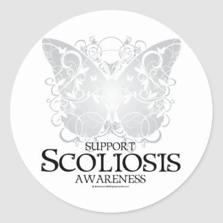 Scoliosis Butterfly Classic Round Sticker