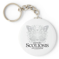 Scoliosis Butterfly Keychain
