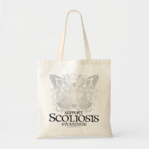 Scoliosis Butterfly Tote Bag