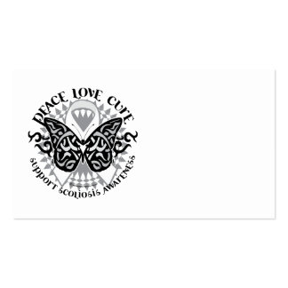 Scoliosis Butterfly Tribal Business Cards