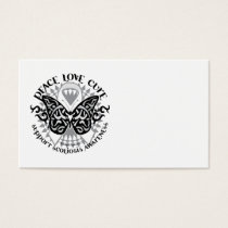 Scoliosis Butterfly Tribal Business Card