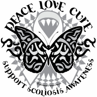 Scoliosis Butterfly Tribal Cutout