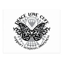 Scoliosis Butterfly Tribal Postcard