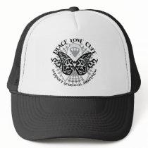 Scoliosis Butterfly Tribal Trucker Hat