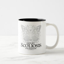 Scoliosis Butterfly Two-Tone Coffee Mug