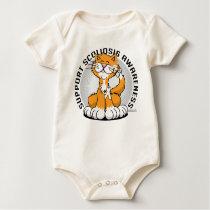 Scoliosis Cat Baby Bodysuit