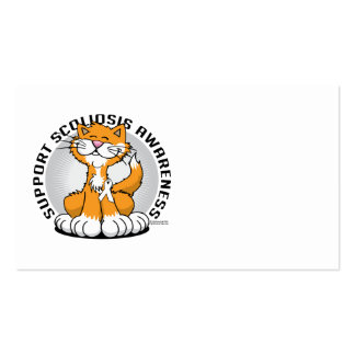 Scoliosis Cat Business Card