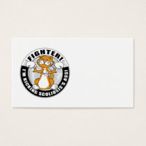 Scoliosis Cat Fighter Business Card