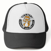 Scoliosis Cat Fighter Trucker Hat