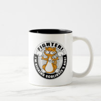 Scoliosis Cat Fighter Two-Tone Coffee Mug