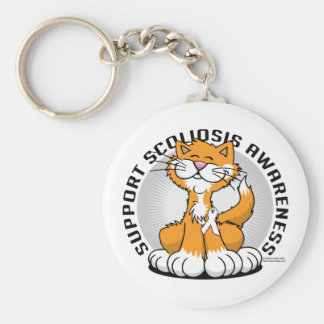 Scoliosis Cat Keychain