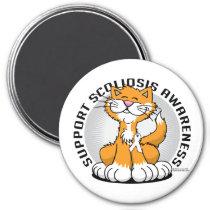 Scoliosis Cat Magnet