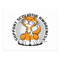 Scoliosis Cat Postcard