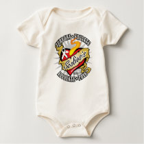 Scoliosis Classic Heart Baby Bodysuit