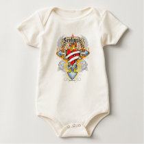 Scoliosis Cross & Heart Baby Bodysuit