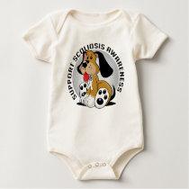 Scoliosis Dog Baby Bodysuit
