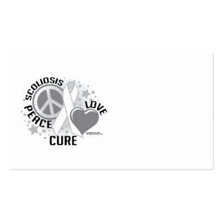 Scoliosis Peace Love Cure Business Card