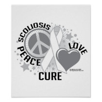 Scoliosis Peace Love Cure Poster