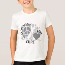 Scoliosis Peace Love Cure T-Shirt