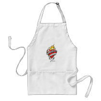 Scoliosis Tattoo Heart Adult Apron