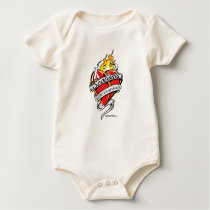 Scoliosis Tattoo Heart Baby Bodysuit