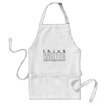 Scoliosis Think White Adult Apron