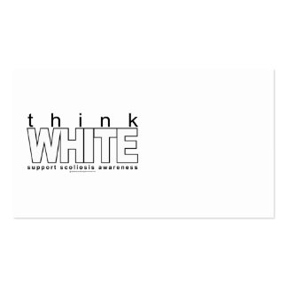 Scoliosis Think White Business Card