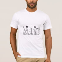 Scoliosis Think White T-Shirt