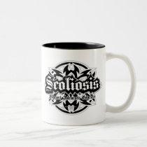 Scoliosis Tribal Two-Tone Coffee Mug