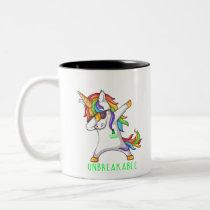 SCOLIOSIS Warrior Unbreakable Two-Tone Coffee Mug