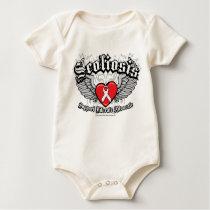 Scoliosis Wings Baby Bodysuit