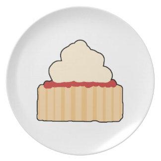 Scone. del atasco y de la crema platos
