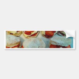 Scones/tortas de la fresa pegatina para coche