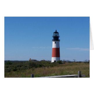 Sconset Lighthouse Greeting Card